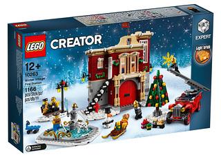 古典美感的消防局、消防車都超讚的啊~ LEGO 10263 創意系列【冬季消防局】Winter Village Fire Station