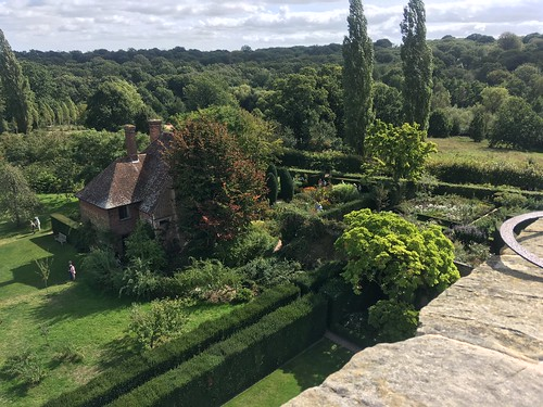 South cottage at Sissinghurst castle, viewed from the tower