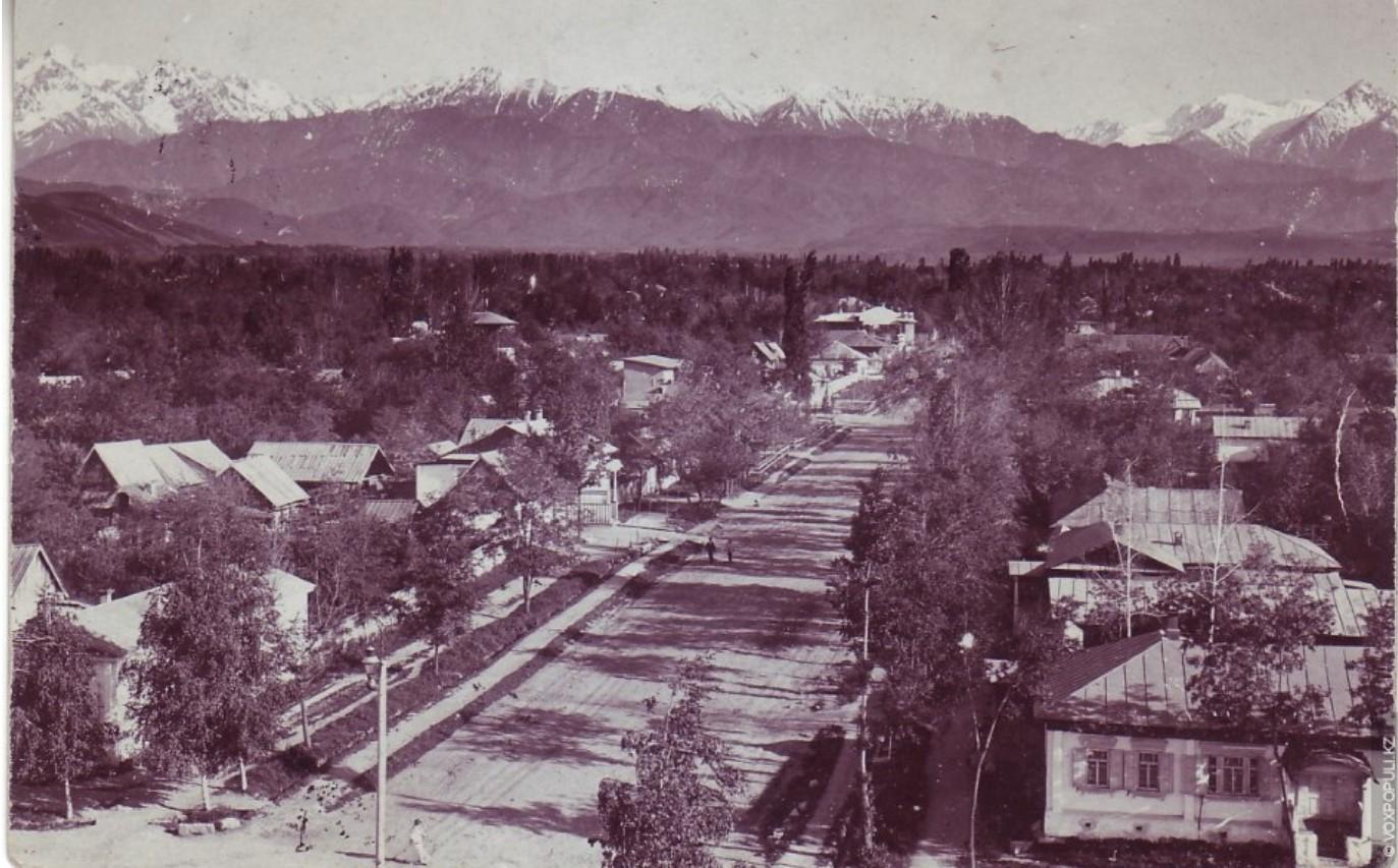 Вид Большой Алматинской станицы, 1912