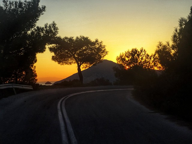 A road trip to the sunset