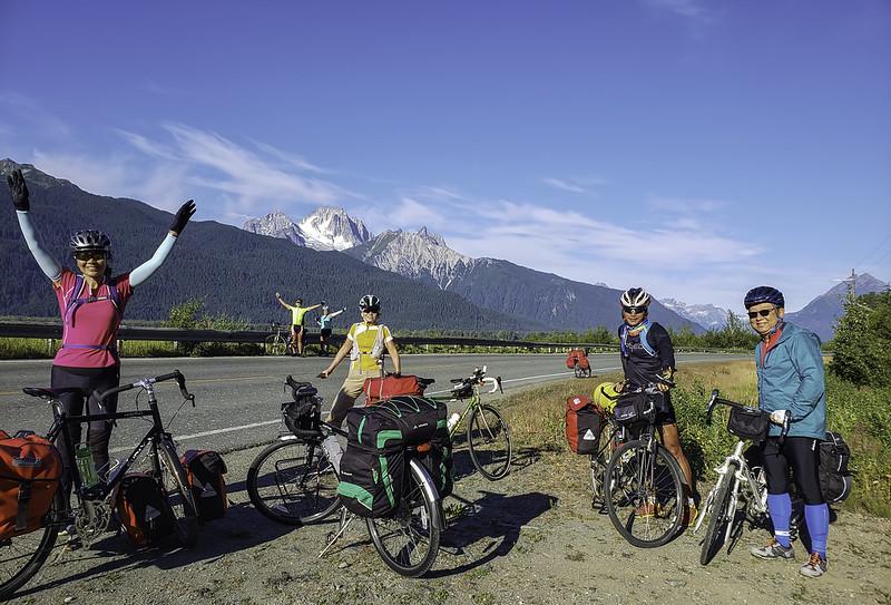Biking on Haines Highway, AK