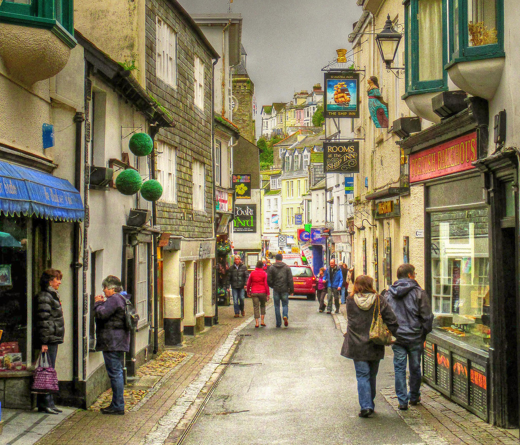 Fore Street, East Looe, Cornwall. Credit Baz Richardson, flickr