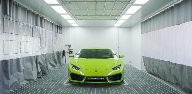Lamborghini車體維修技術中心_整備集塵區