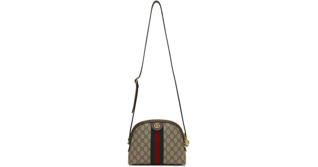 gucci-brown-Brown-Small-Gg-Supreme-Ophidia-Bag