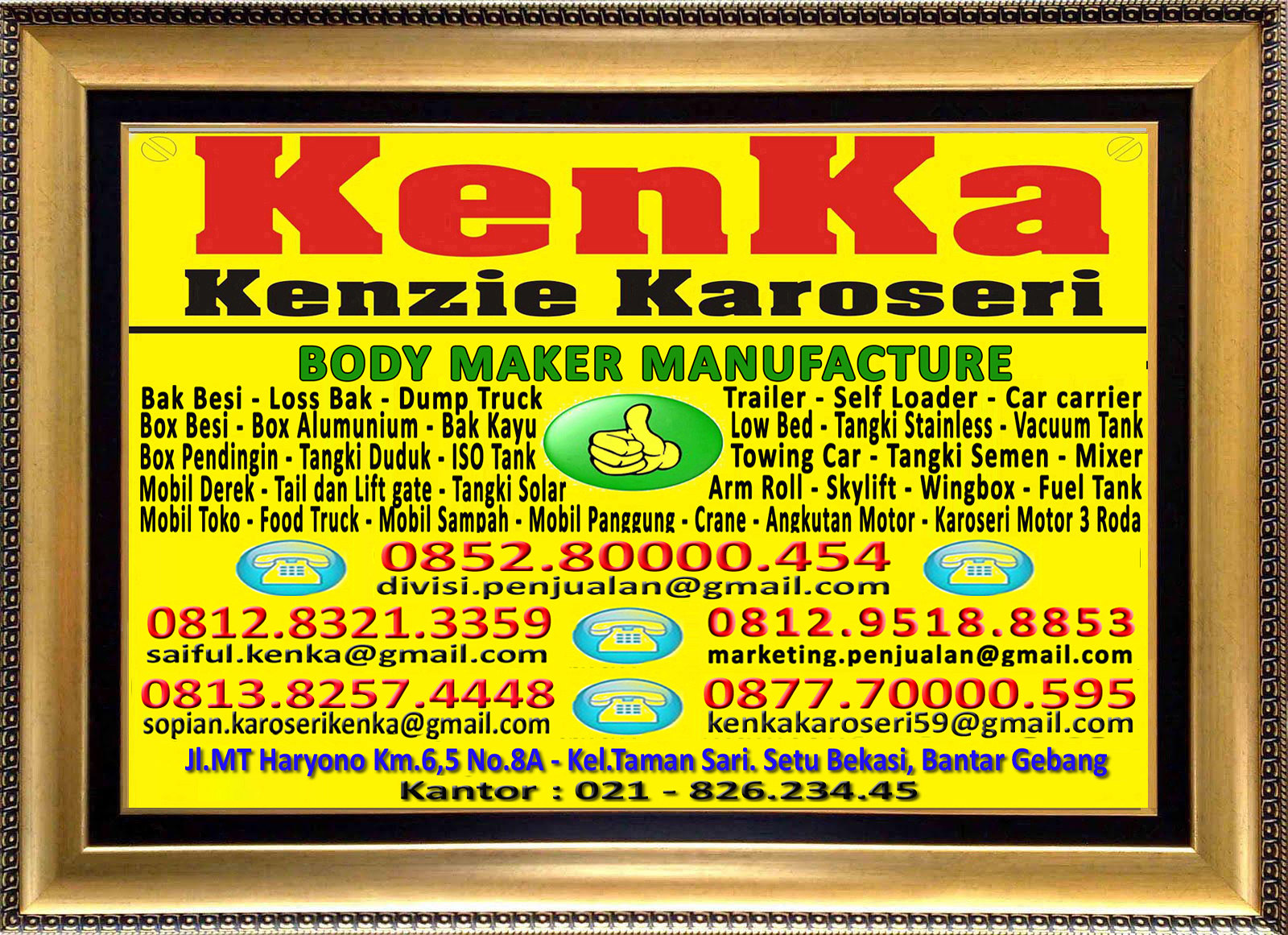 Karoseri Mobil & Truck KenKa - Thamrin - Saiful - Susi - Sopian - Nipo