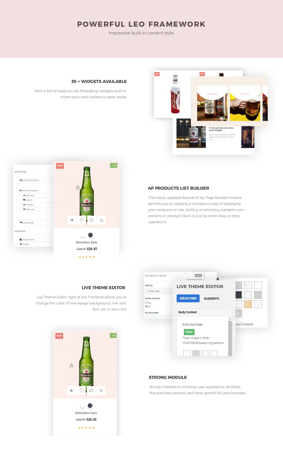 powerful prestashop framework - brewery website template