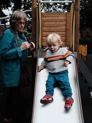 Ziggy on the slide