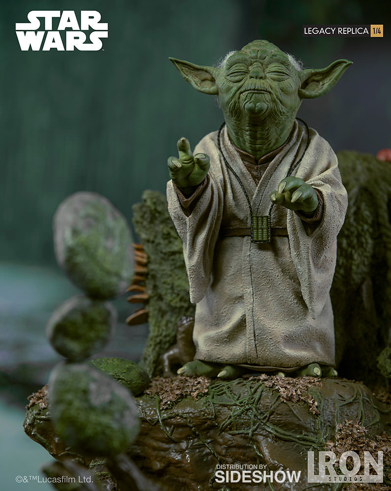 Feel the Force with this Yoda Statue from Iron Studios!