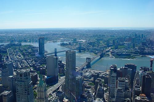 Brooklyn and Manhattan Bridges, from One World Trade Center