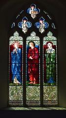 Mary Magdalene, St John and the Blessed Virgin (Burne-Jones for Morris & Co, 1902)