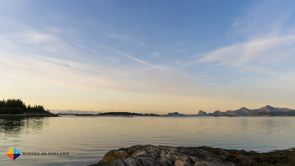 Sunset over the Lofoten Peninsula