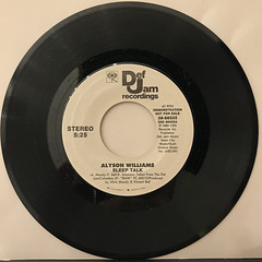 ALYSON WILLIAMS:SLEEP TALK(RECORD SIDE-A)