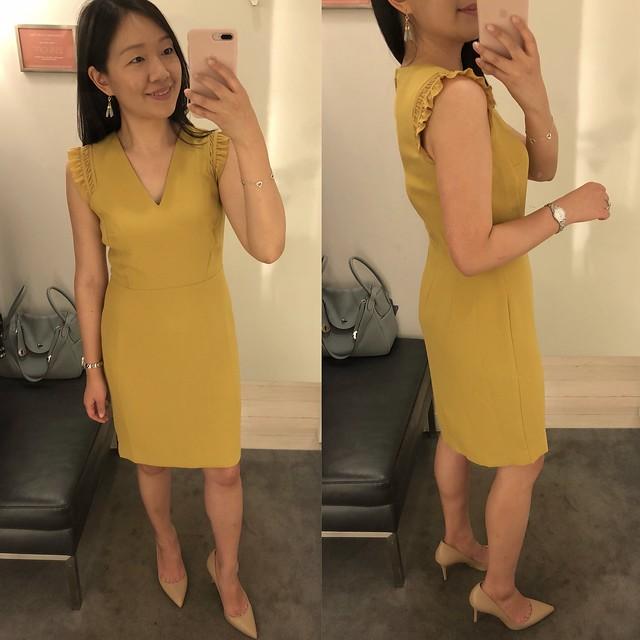 Ann Taylor Ruffle Sheath Dress, size 0P