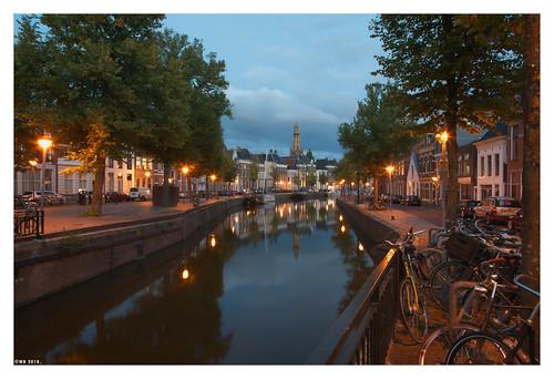 Hoge en lage der A, Groningen, Holland.