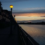 Sunset Preston Docks scenic