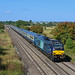 DRS 68034 Leads Riviera Mk2's through Brentingby with 68018 at the rear with a Nenta ECS Burton Wetmore to Norwich