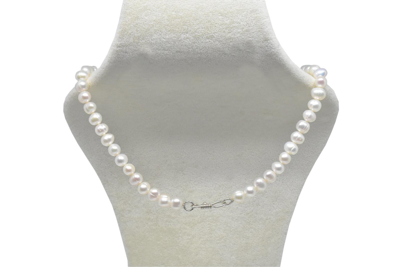- Ahsen 925K Gümüş Klipsli Doğal Beyaz İnci Kolye-Ah-00039 (1)