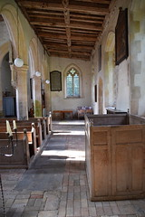 north aisle looking west
