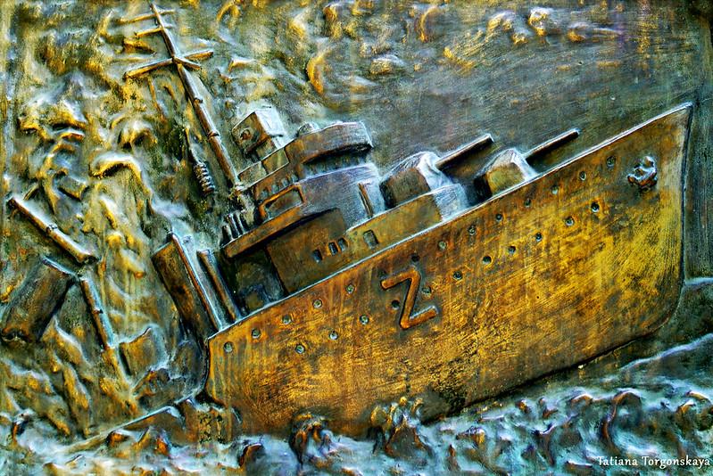Рельеф с кораблем