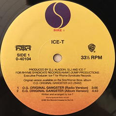 ICE-T:O.G. ORIGINAL GANGSTER(LABEL SIDE-A)