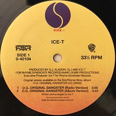 ICE-T:O.G. ORIGINAL GANGSTER(LABEL SIDE-A)