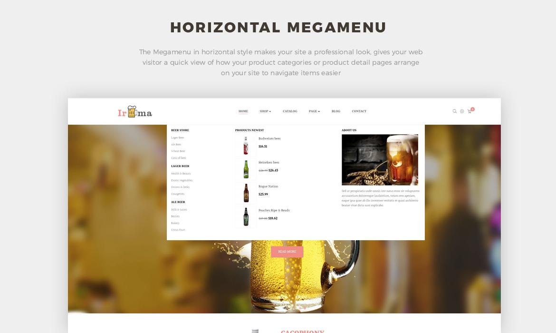 horizontal mege menu - brewery website template