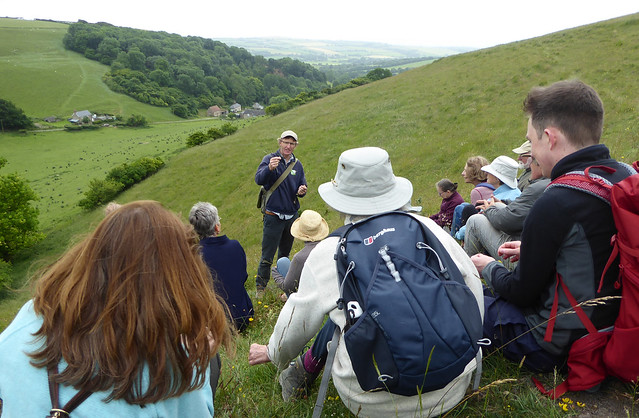 Nick Gray talks to the group on Higher Coombe