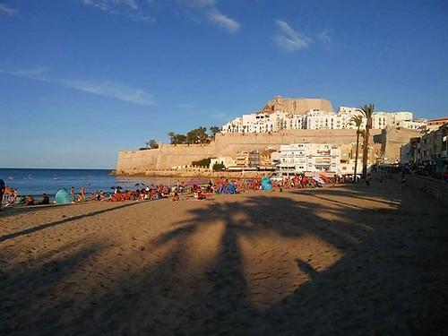 Atardecer en la otra costa. Mañana cambiamos. #eastcoast #peñiscola #mediterraneo #phonephoto