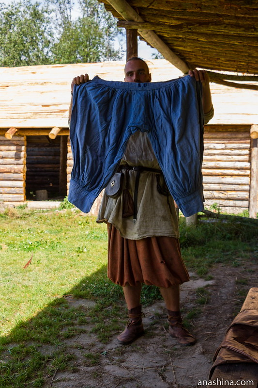 Шаровары обеспеченного человека, Музей живой истории эпохи викингов Бьоркагард, Берёзово