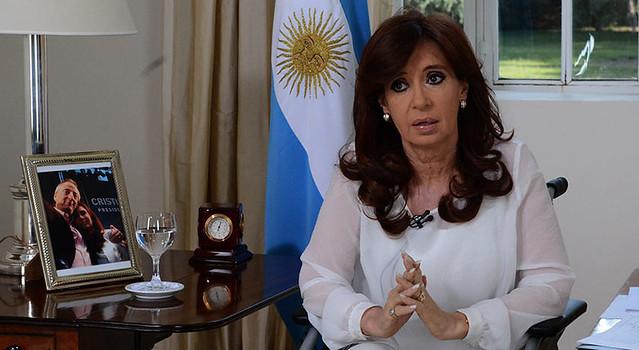 """Ex-presidenta e atual senadora, Cristina Kirchner é alvo de investigações no caso que foi chamado pela imprensa de """"Cadernos de Corrupção"""" - Créditos: Presidência da Argentina"""