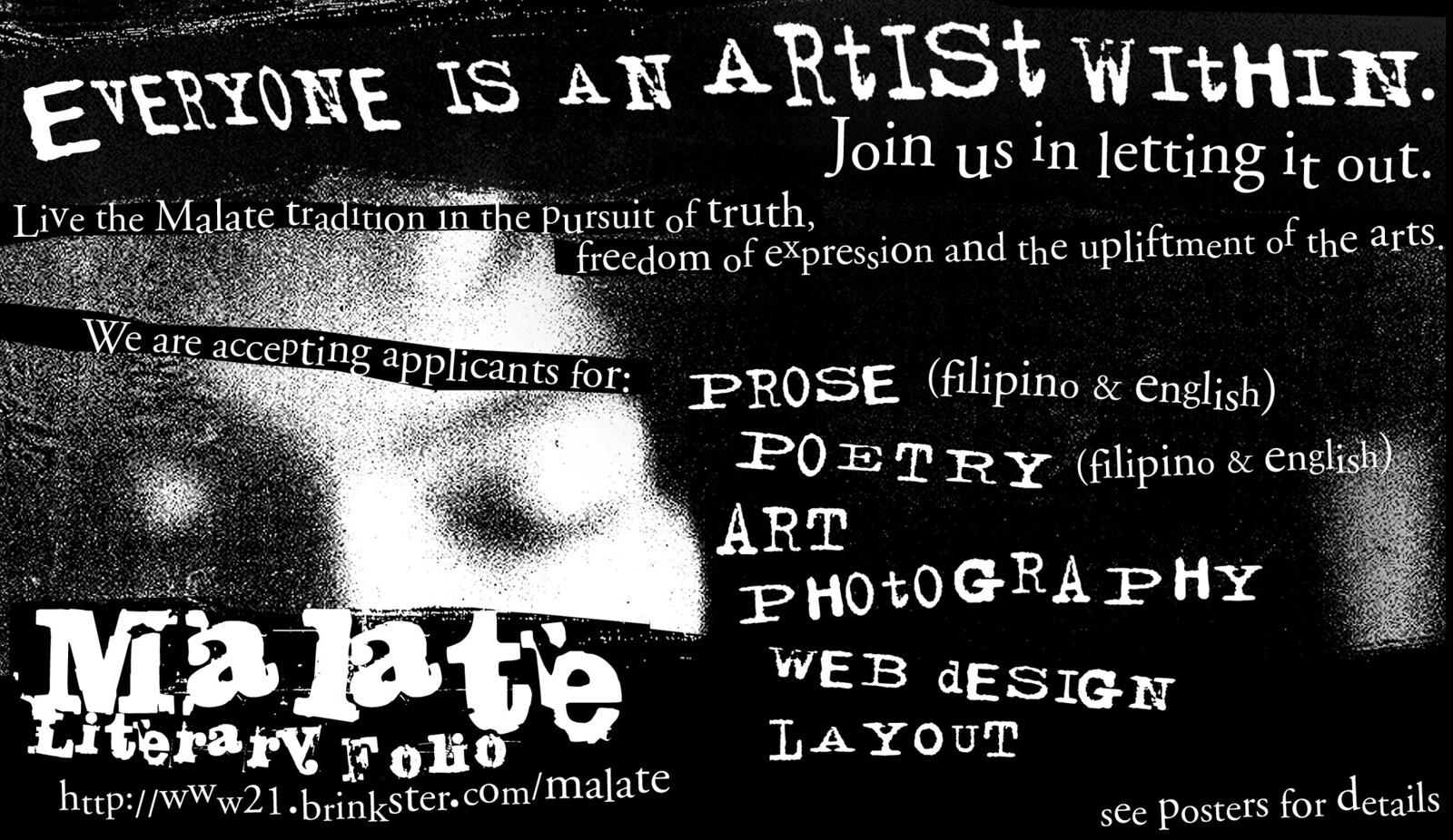 Malate Literary Folio - Recruitment Flyer 2002