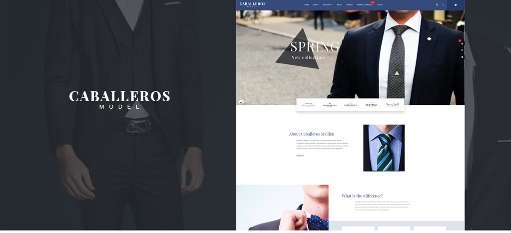 Leo Caballeros - Men Fashion and Accessories Prestashop theme