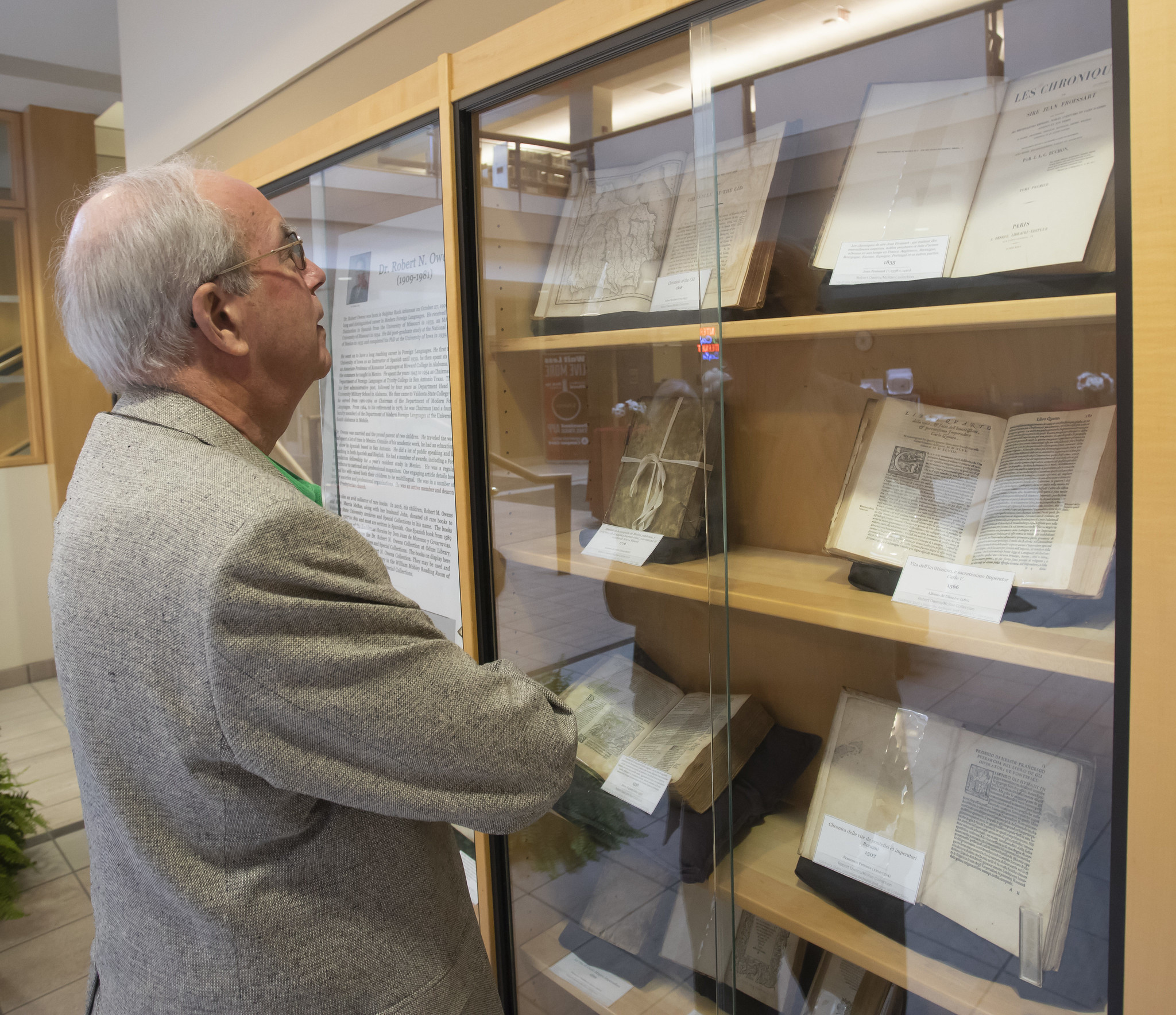 Owens Rare Book Collection on Display