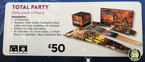 £50 ASDA PRICE - TOTAL PARTY FIREWORK PACK