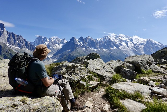Looking at the Mont Blanc massif