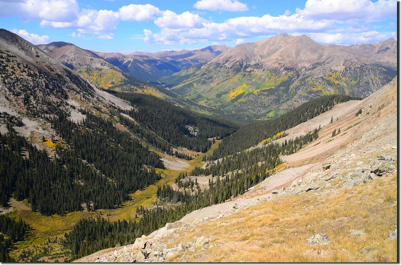 Looking down at La Plata Gulch & Indipendance Pass from the trail 1
