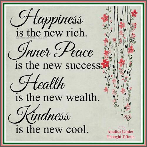 Nuevos conceptos de felicidad, riqueza,...