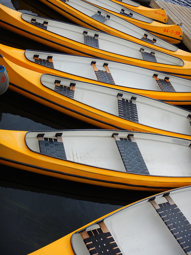 Even the kayaks in Silkeborg, Denmark have Danish 'design' seating