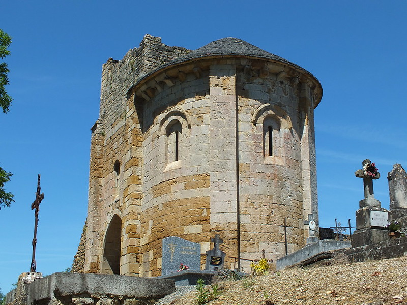 [052-004] Camboulit - Ruines de l'église Saint-Martin (Bru)