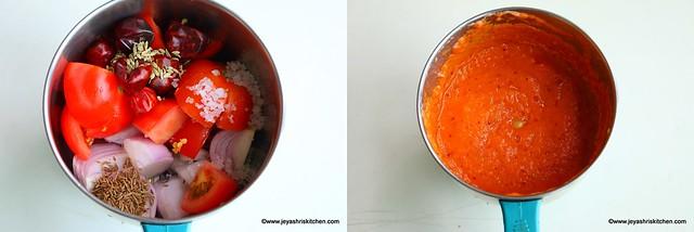 onion tomato thokku 1