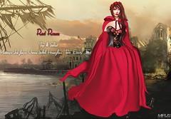 MIRUS Red Roses Skirt &Top Maitreya isis freya venus slink hourglass tonic ebody fitted