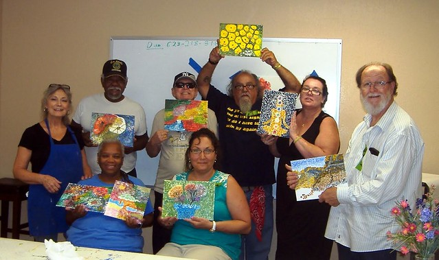 Veterans turn to art for relief from PTSD
