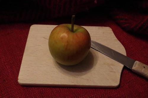 Kleiner Apfel vorm Schlafengehen