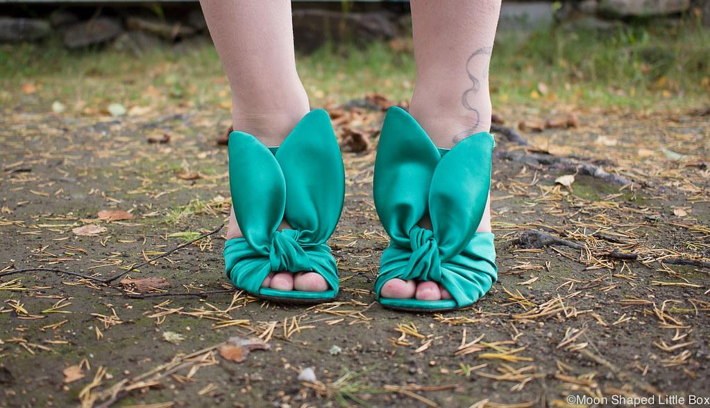 satin bunnies, Minna Parikka, Minna Parikan kengät, satiinipuput, satiinikorkokengät, Blanche- korkokengät