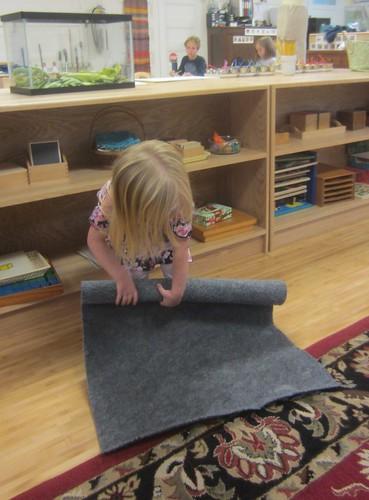 rolling a mat