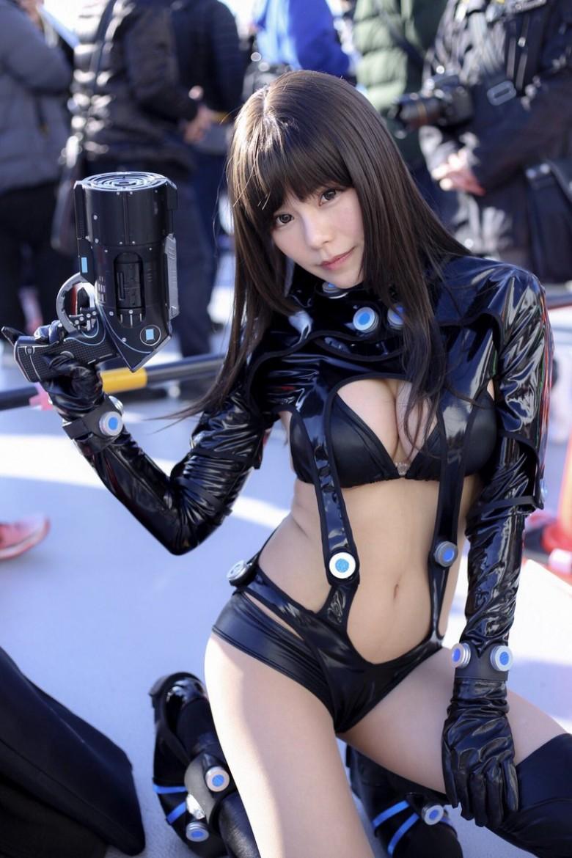 日本可爱萌妹《オシリスOsiris》,高度还原杀戮都市胸狠女角色「下平玲花」!