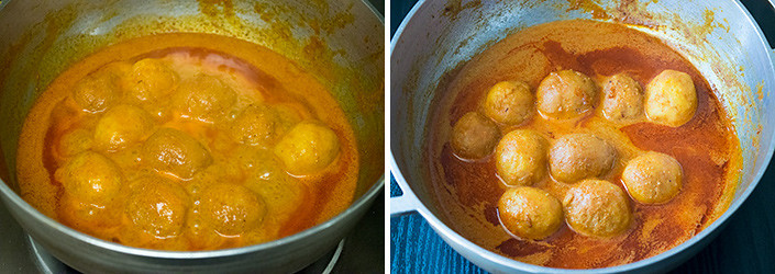 Kashmiri Dum Aloo cooking steps by GoSpicy.net