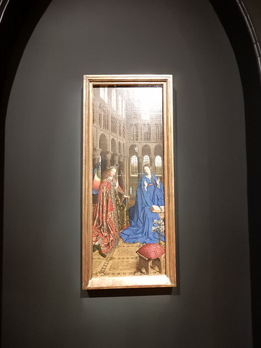 DSCN2626 - The Annunciation, Jan van Eyck, The Pre-Raphaelites & the Old Masters