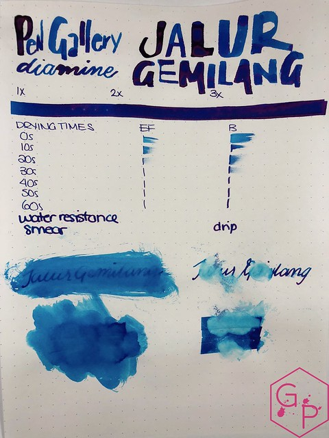 Pen Gallery Diamine Jalur Gemilang Ink Review 10