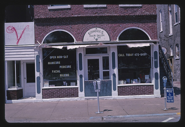 Connie's Hair Salon, Broadway, Fairfield, Iowa (LOC)